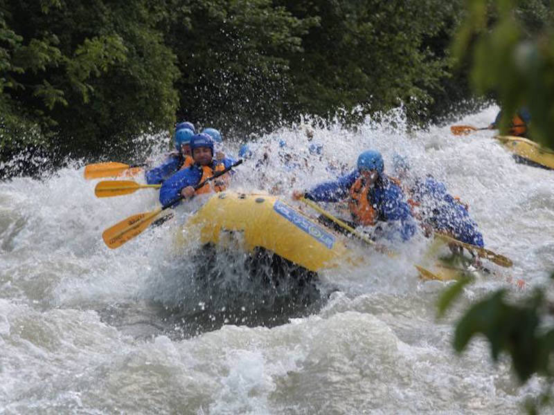 rafting val di sole offerta hotel pezzotti -Rafting on the River Noce