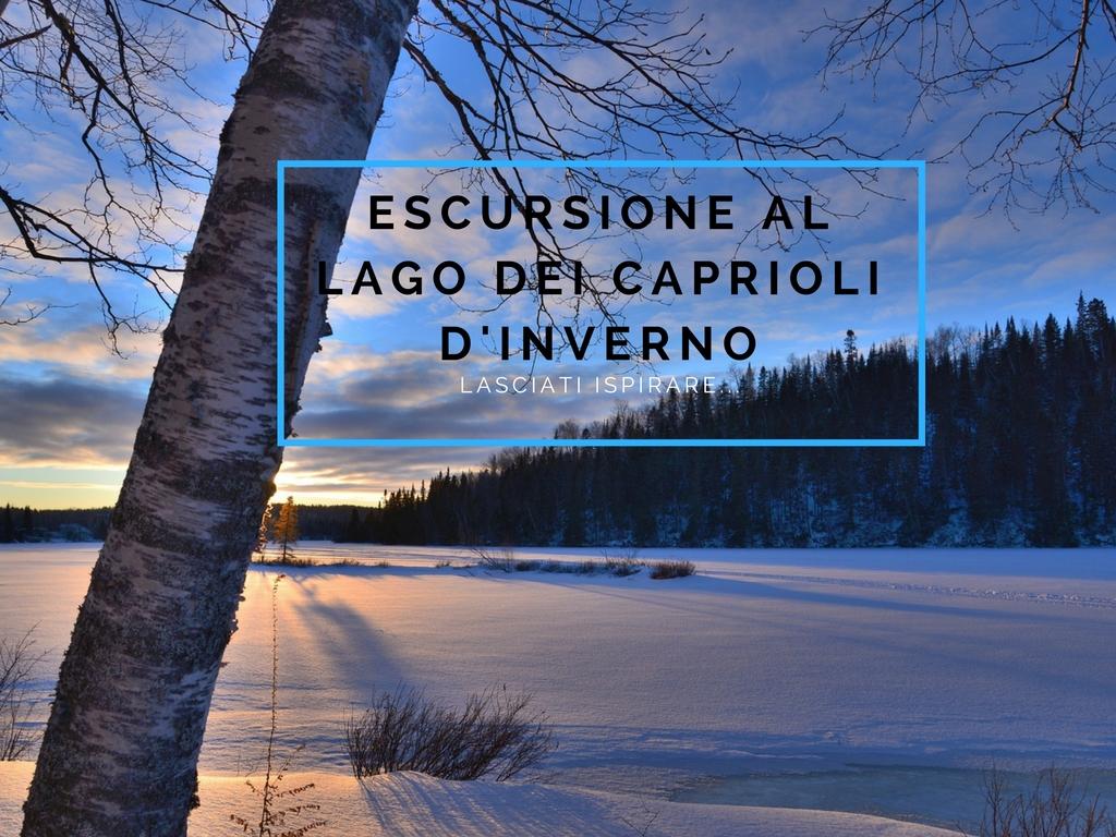 Der See Lago dei Caprioli im Winter - Hotel Val di Sole - Trentino