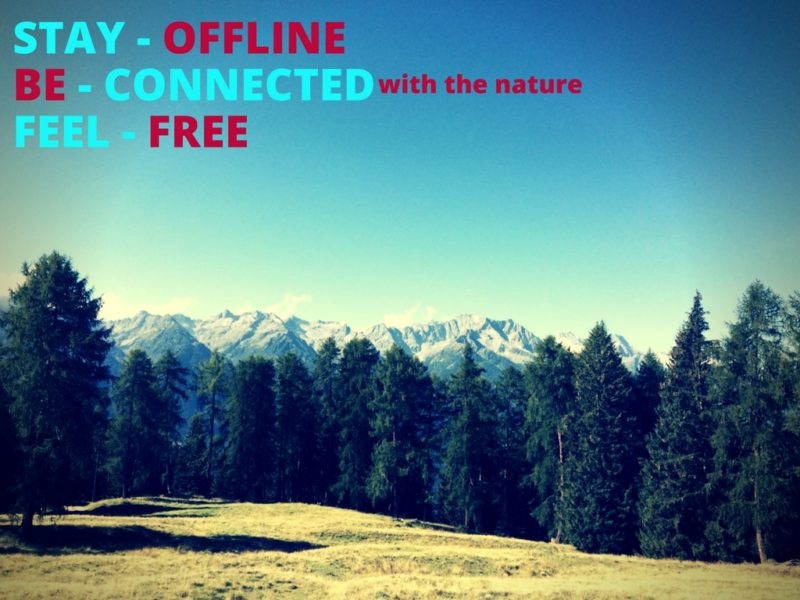 digital detox in val di sole
